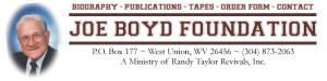 Click here to visit the Joe Boyd Foundation website